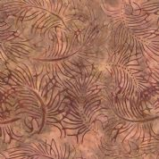Moda Color Daze Batiks by Laundry Basket Quilts - 4476 - Dusky Pink and Purple Leaf Print Batik  - 42240 14 - Cotton Fabric
